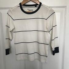 BNWOT Boys NEXT Cream Navy Breton Striped TShirt Top - Size 4 Years