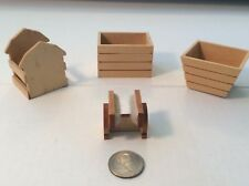 VTG 1:12 scale Dollhouse miniatures Outdoor wood planters with boot cleaner