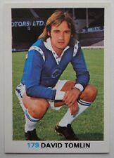 FKS Soccer Stars 1977-1978 NUMBER 179 DAVID TOMLIN