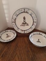 B3 - Totally Today Coastal Light House 12pc Dinnerware Set