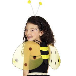 Bienenkostüm Set mit Haarreif und Flügel gelb-schwarz Bienenflügel Biene