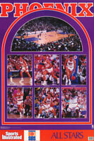 POSTER: NBA  BASKETBALL : PHOENIX SUNS 1990 STARS - FREE SHIP! #7420    RW4 A