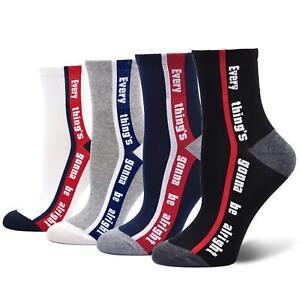 Saying Socks Mens Sayings For Men Crew Cotton CaiDieNu 4-Pack Four Pairs