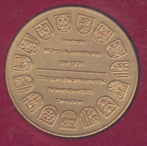 Saxonia Medal -Dresden Numismatiktagung 1971 39,95mm, 26,92g orig. Etui, UNC.-