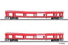 HS Tillig 01640 Wagenset der DB AG bestehend aus zwei Autotransportwagen Sp TT