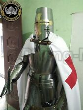 Rare Medieval Knight Suit Of Templar Armor W/Sword Combat Full Body Armour Gift4