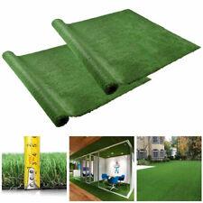 10x6.6ft Artificial Grass Mat Fake Lawn Pet Turf Synthetic Garden Outdoor 2 Pack