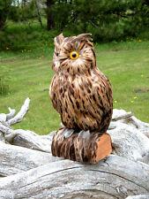 OWL REALISTIC LIFELIKE FEATHER FURRY ANIMAL Bird REPLICA o1440 FREE SHIPPING USA