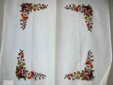 EP 3626 Vintage Floral Game Table Cover Preworked Design Needlepoint Canvas