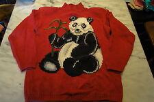 Eagles Eye *Size Large* Vintage Novelty Sweater *PANDA BEAR* Wildlife Collection