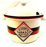 Mcllhenny Company 2.5 Qt TABASCO Salsa Chili Soup Bowl Pot Tureen With Lid EUC