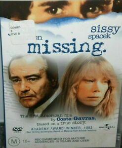 Missing DVD Jack Lemmon Sissy Spacek - RARE MOVIE OOP  - GENUINE REGION 4 AUST
