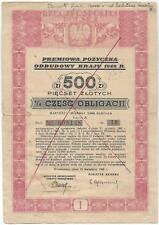 Obligacja Premiowa Pozyczka odbudowy Kraju 1946 .