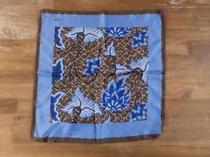 KITON Napoli floral silk pocket square authentic