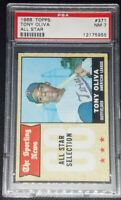 Tony Oliva 1968 Topps All Star Graded PSA 7 NM # 371 Minnesota Twins