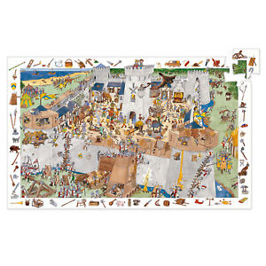 Djeco Fortified Castle Jigsaw Puzzle | Childrens Observational Jigsaw Puzzle