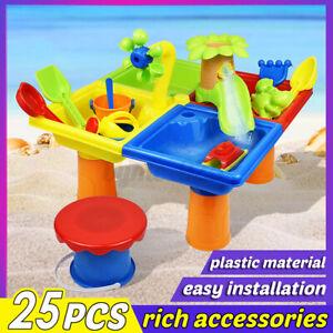 25pcs Kids Sandpit Toys Outdoor Beach Sand Pit Water Play Set Toddler Children !