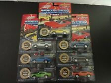 Qty 7 Johnny Lightning 1969 GTO Judge Muscle Cars in 7 diff colors w/ coin MIP
