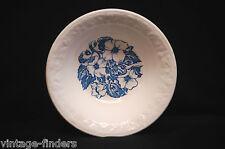 "Old Vintage Wild Rose 6"" Soup Bowl White w Blue Floral D 52 N 6 ~ USA MidCentury"