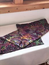 Vintage Purple Yellow Blue Seashell Star Fish Beach Wear Silk or Nylon Neck Scar