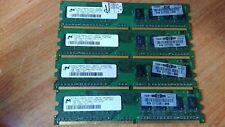 4x1GB Microm DDR2 667mhz  PC2-5300U 1RX8 (4gb) desktop ram HP 377726-888