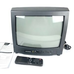 "VTG Sylvania SST4132 13"" CRT Color TV w/ Remote + Manual WORKS! Retro Gaming TV"
