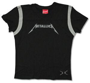 Metallica 2009 Death Magnetic Girls Juniors Football Jersey Shirt New Official