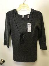 BKE Womens Medium Gray Hooded Sweater NWT