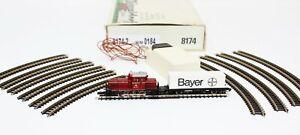 Z Scale Marklin 8174-2 M/M 0184 Bayer Starter Set w/ Diesel Switcher Locomotive