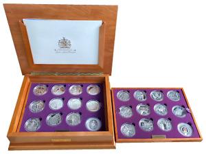 Queen Elizabeth II Golden Jubilee Sterling Silver Coin Collection