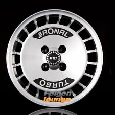 4 Alufelgen RONAL R10 TURBO Schwarz Frontkopiert 7x15 ET28 4x108 ML76 NEU
