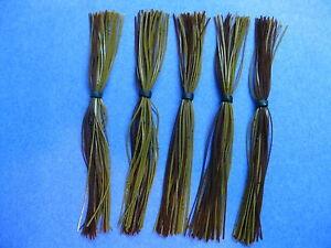 5 Silicone Skirt 5-6662 Green Pumpkin/brown spinner bait bass lure fishing jig