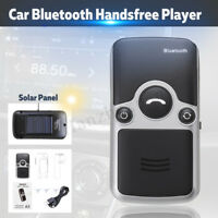 Bluetooth Car Kit Solar Powered Handsfree Speaker MP3 Player Audio Music Phone