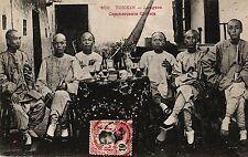 Vietnam, Indochina, Tonkin, Männer mit Getränken, um 1900/10 n Algerien versandt