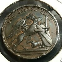 1830 GERMANY BADEN OURLACH LEOPOLD MEDAL 31 MM SCARCE COIN
