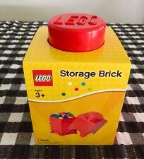 LEGO Red Storage Brick - 1 Knob / Stud