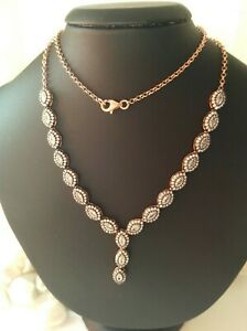 AAA QUALITY STERLING 925 SILVER JEWELRY TOP RICH WHITE ZIRCON LADY NECKLACE