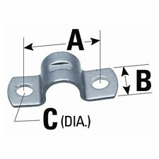 """SeaStar Cable Clamp 2 Holes for 4300 Series A: 1"""", B: 1/2"""", C: 7/32"""" 031532 MD"""