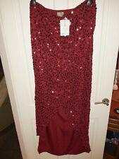 ASOS tall Size UK 16 / US 12 / EU 42 long red sequin tulip skirt BNWT SUPERSEXY