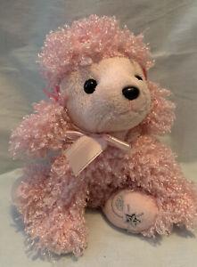 """Russ """"Shining Stars"""" Plush PINK POODLE  Fuzzy Stuffed Animal 8"""" 2006"""