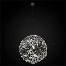 Hang lighting Hollow Silver Chandelier Chrome Pendant Light Round Ceiling Lamp
