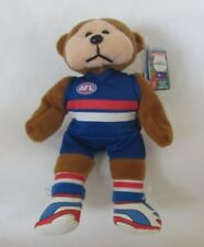 AFL DEANO THE WESTERN BULLDOGS 2013 JERSEY BEANIE BEAR RETIRED COLLECTABLE