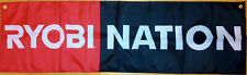Ryobi Nation Flag Garage Man Cave Automotive Power Tools Banner 58X17 In