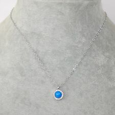 lia sophia signed jewelry candy dot CZ crystal cute bule pendant necklace chain