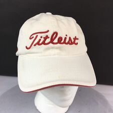 Titleist Pro V1x Baseball Cap White with Red Adjustable Strap Drop And Stop Logo