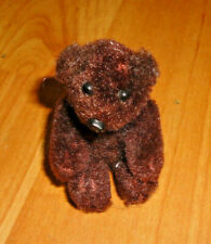 Vintage Fully Jointed Mohair Bear 3""