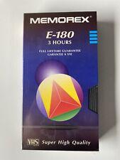 Memorex E180 Vhs Blank Tapes Brand New Unused