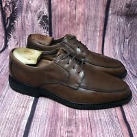 Clarks Unstructured Un.Nordic Men Brown Leather Split Toe Casual Oxford Sz 10.5