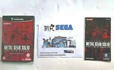 METAL GEAR SOLID THE TWIN SNAKES GAMECUBE COVER & INSTRUCTION MANUAL - NO DISC