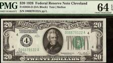 New ListingUnc 1928 $20 Dollar Bill Frn Numerical 4 Gold Clause Note Paper Money Pmg 64 Epq